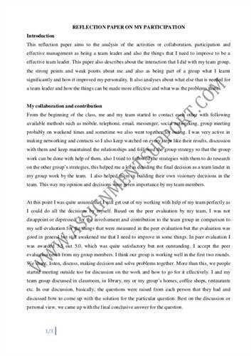 writing reflective essay samples. reflective english essays ...