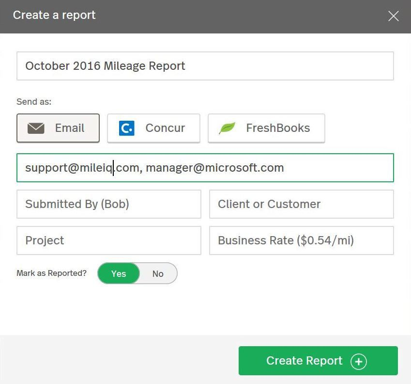 How to: Request a Monthly Report – MileIQ