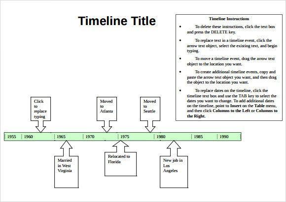 Sample Timeline - 9+ Documents in PDF, Word, Excel, PPT
