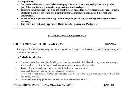 Resume cover letter for medical sales