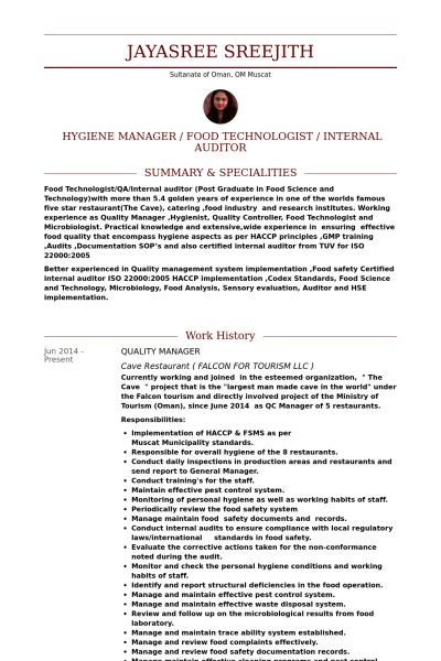 Supplier Quality Assurance Resume #8634