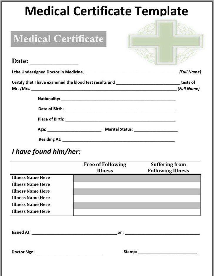 Medical Certificate Sample | Download Free & Premium Templates ...