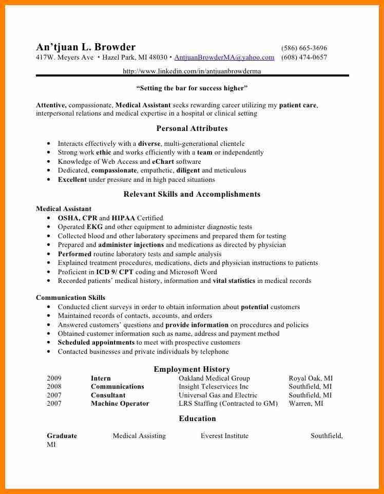 9+ medical assistant qualifications resume | job resumed