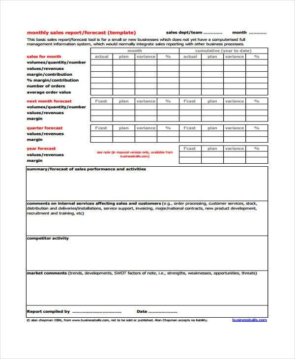 32+ Monthly Report Templates in PDF   Free & Premium Templates