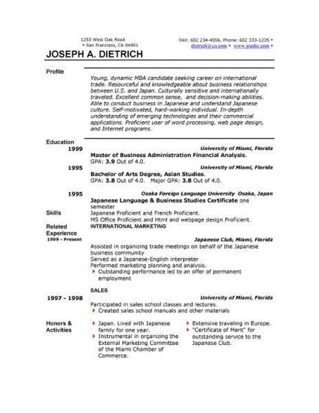 Word Resume Templates Free Download Ideas 94236 Within 21 Cool ...