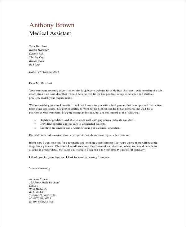 Medical Assistant Cover Letter With No Experience – Template Design