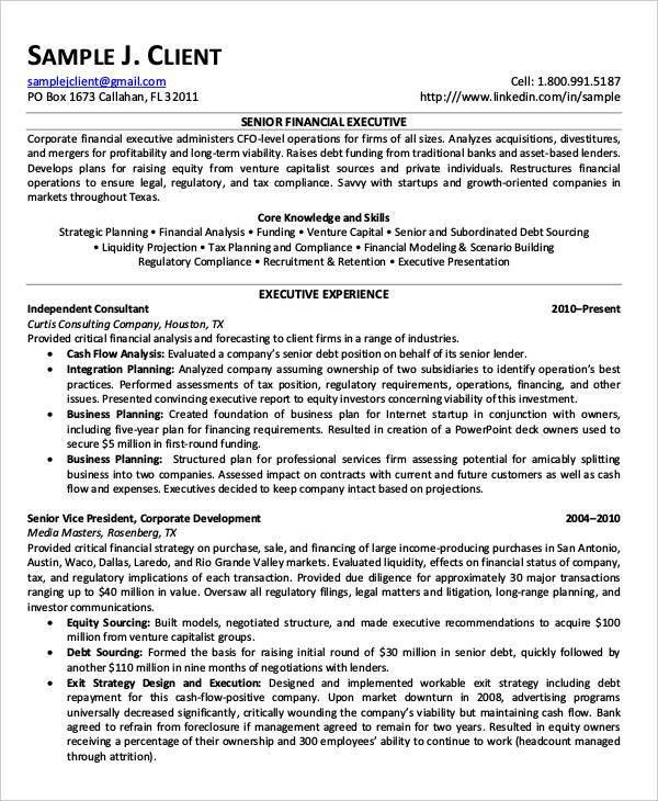 Free Finance Resume Templates - 24+ Free Word, PDF Documents ...
