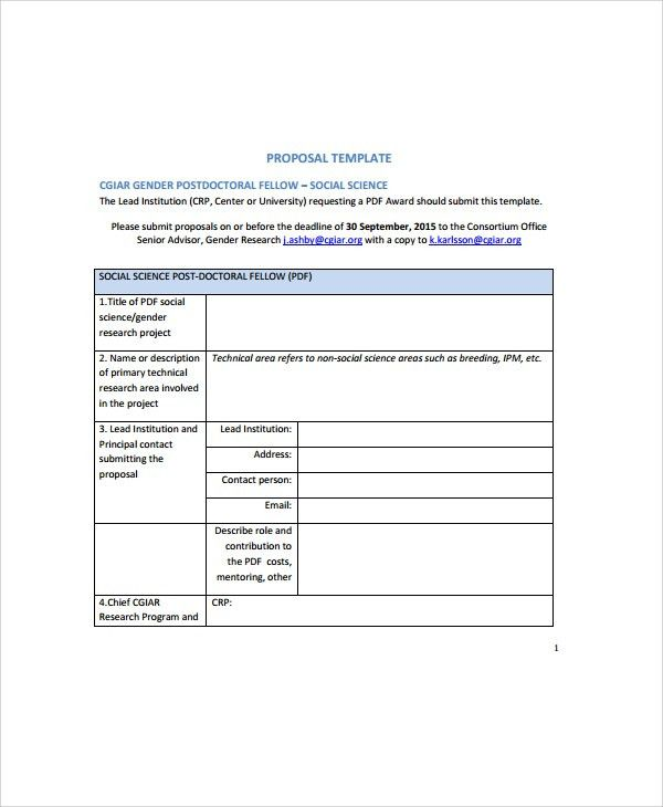Sample IT Proposal Template - 6+ Free Documents Download in Word, PDF