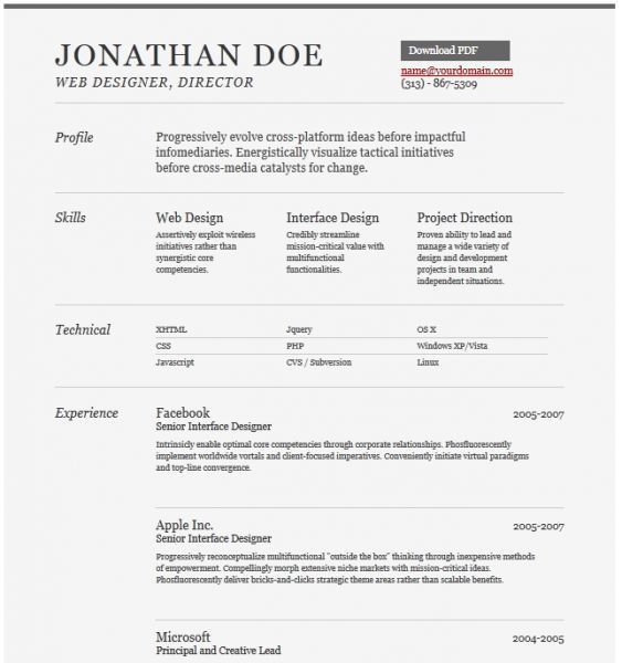 16 best Free Resumes - MS Word images on Pinterest | Cv design ...
