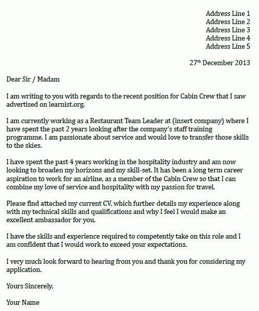 cover letter for flight attendant job sample flight attendant ...
