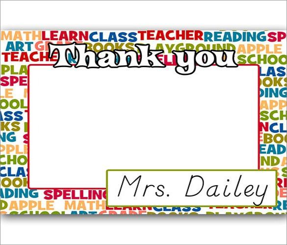 10+ Thank You Notes For Teachers – Free Sample, Example,Format ...
