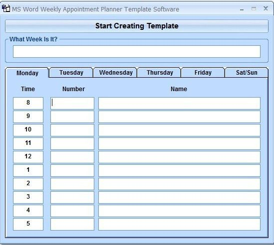 Daily Planner Template Word | Calendar Picture Templates