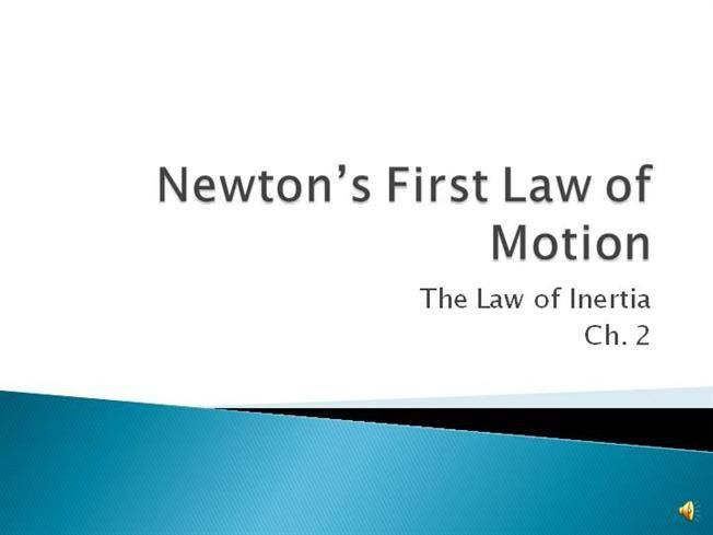 Newton's First Law of Motion With Audio |authorSTREAM