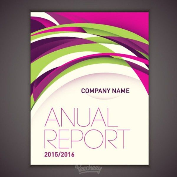 Design for annual report cover Free vector in Adobe Illustrator ai ...