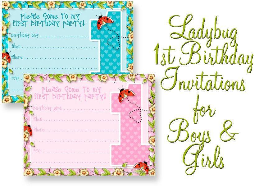 1st Birthday Invitations Templates Free | Amazing Invitations Cards
