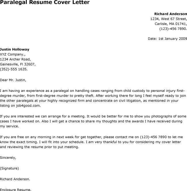 Litigation Paralegal Resume Cover Letter - http://www.resumecareer ...