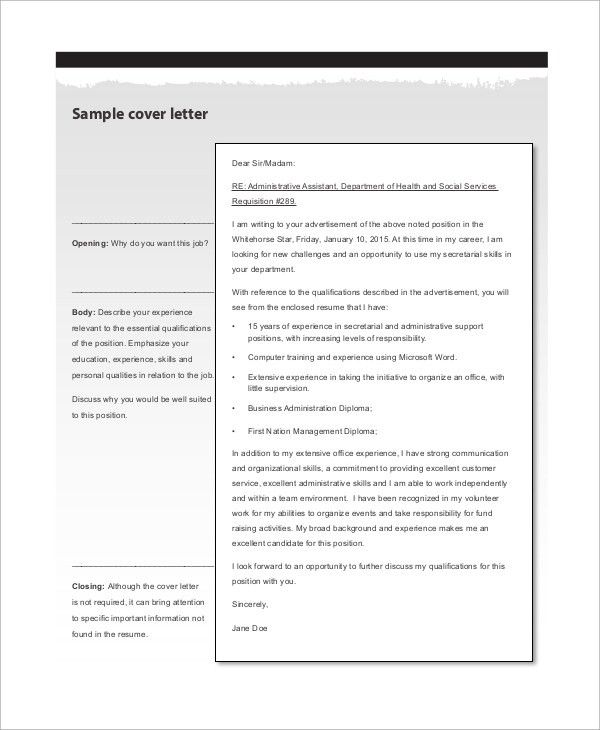 Sample Resume Cover Letter - 8+ Examples in Word, PDF