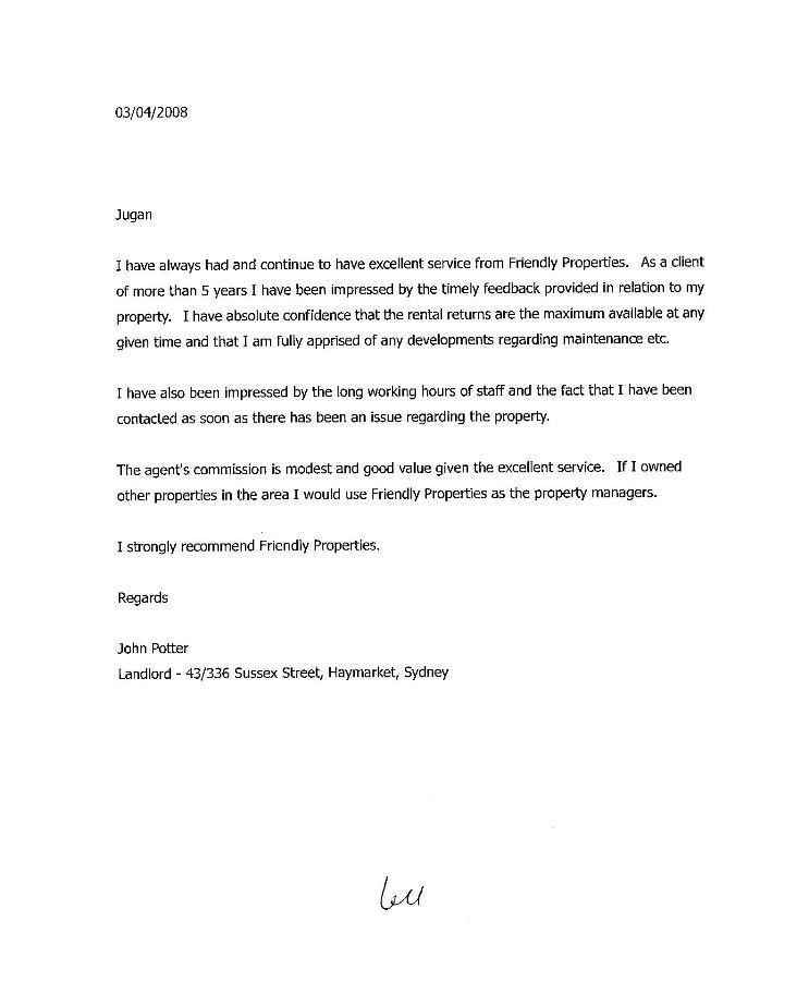 Rental Letter Of Recommendation - Best Template Collection