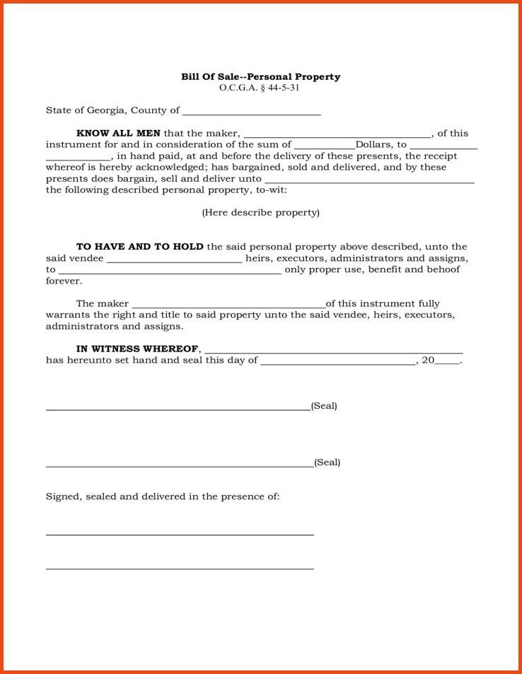 georgia bill of sale | Sponsorship letter