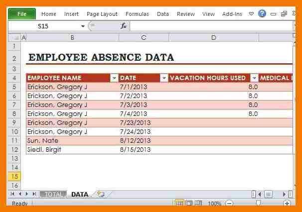Attendance Sheet Excel Template [Template.billybullock.us ]