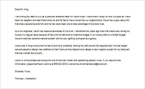 Letter of recommendation for a friend - Writing Professional Letters