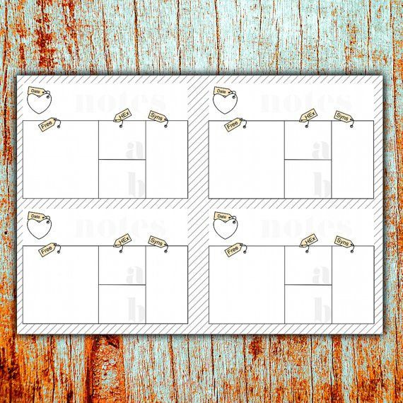 Slimming World Food Diary printable Instant DOWNLOAD A5