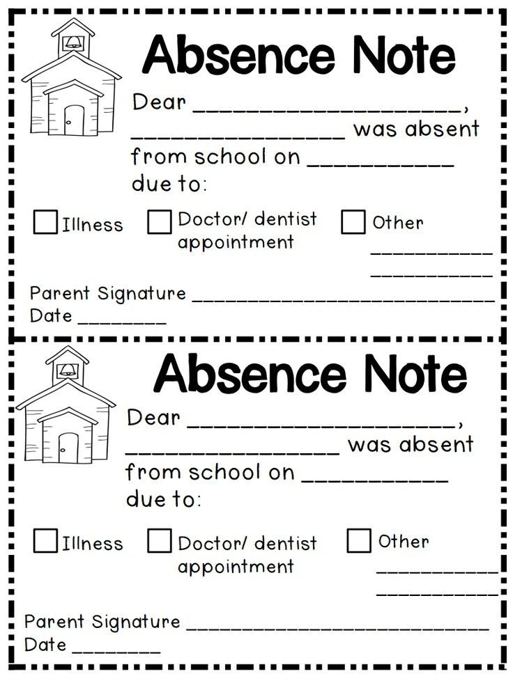 Best 25+ Absent letter ideas on Pinterest | Absent from school ...