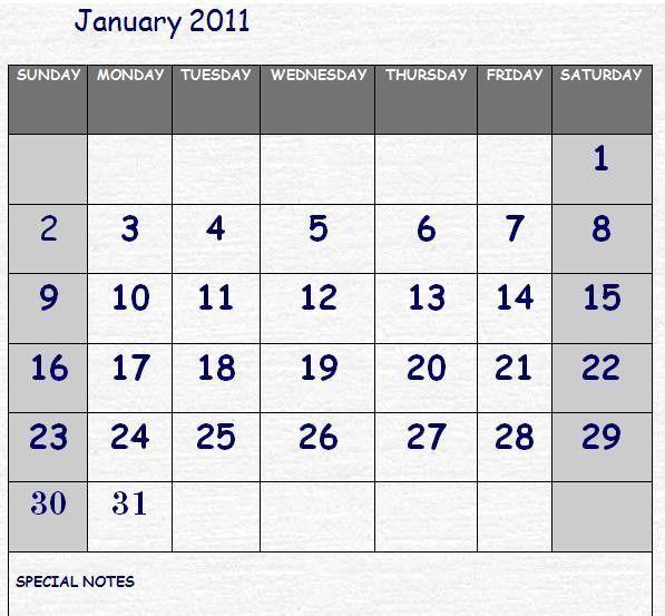 Simple Calendar Template | Calendar Template