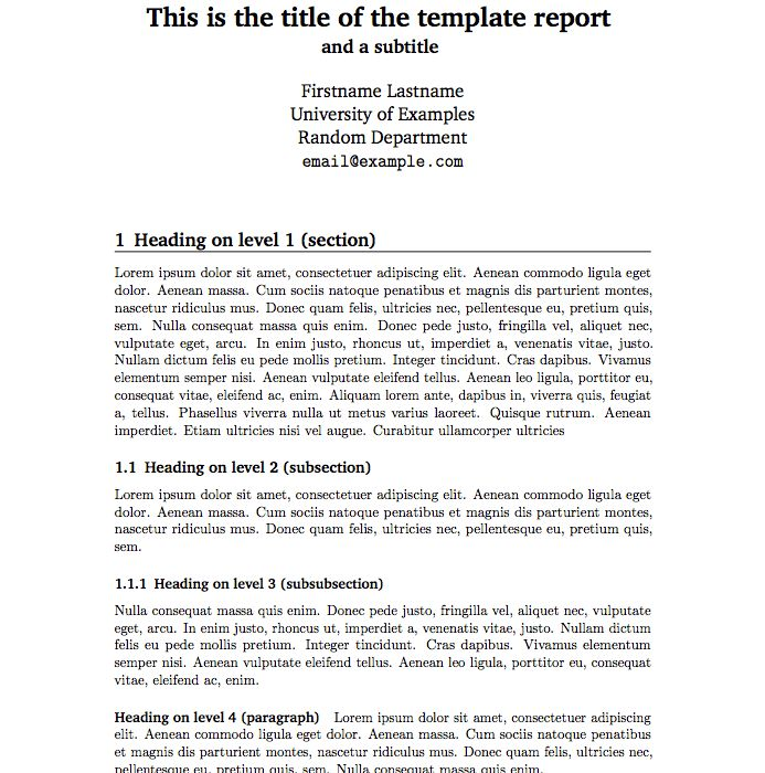 Templates For Report Writing. project report writing template ...