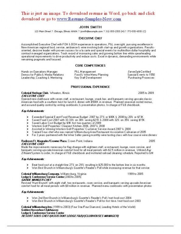 Download Chef Resumes | haadyaooverbayresort.com