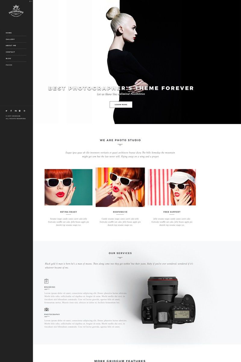 Photography Templates | TemplateMonster
