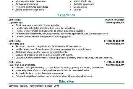 Esthetician Resume Example. Teller Job Bank Teller Job Description ...