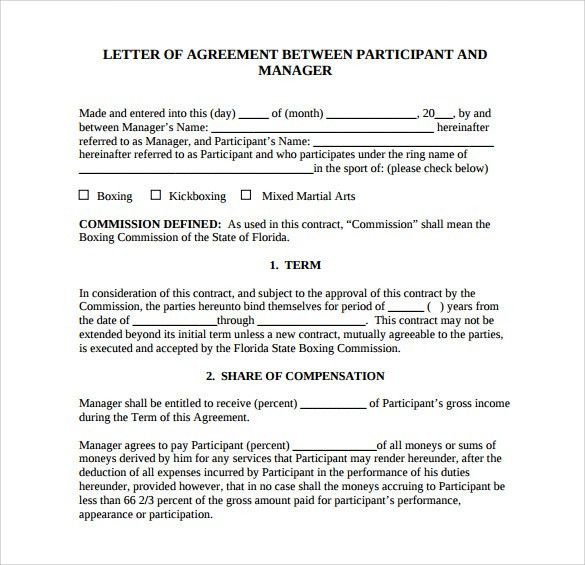 letter of agreement 14 download free documents in pdf word - Agreement To Pay Letter