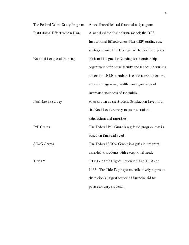 Applied Research Project Work-Study Program