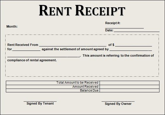 Receipt Form In Doc. Doc #25503300: Rent Invoice Template Word ...