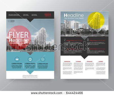 Set Brochureposter Flyer Pamphlet Brochure Cover Stock Vector ...