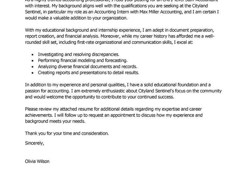 Cool Idea Accounting Cover Letter 11 Leading Professional Staff ...