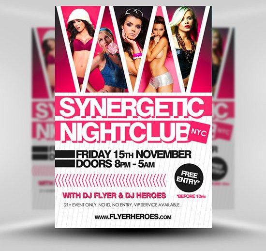 Synergetic Free Club Flyer Template