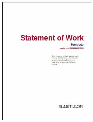 Statement of Work, Microsoft Word Templates | The Statement … | Flickr
