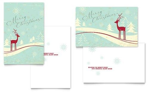 Christmas Card Word - Christmas Lights Card and Decore