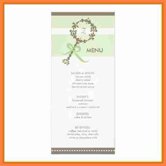 8+ baby shower menu template | Invoice Example 2017