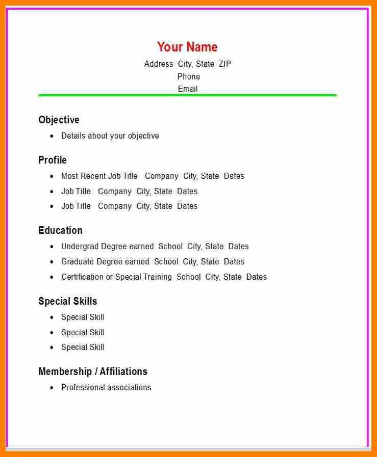 Examples Of Simple Resume. Samples Of Simple Resumes Simple Resume ...