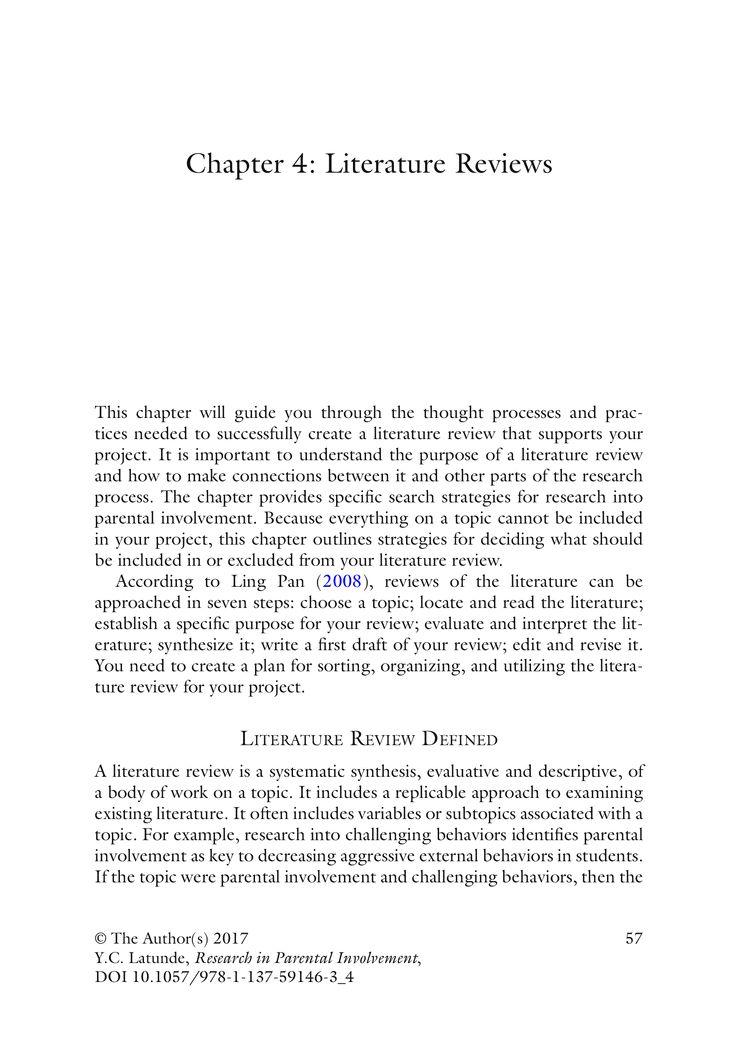 Literature Reviews - Springer