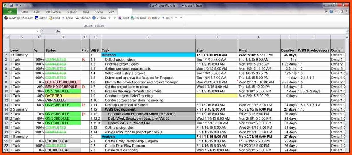 project planner template | program format
