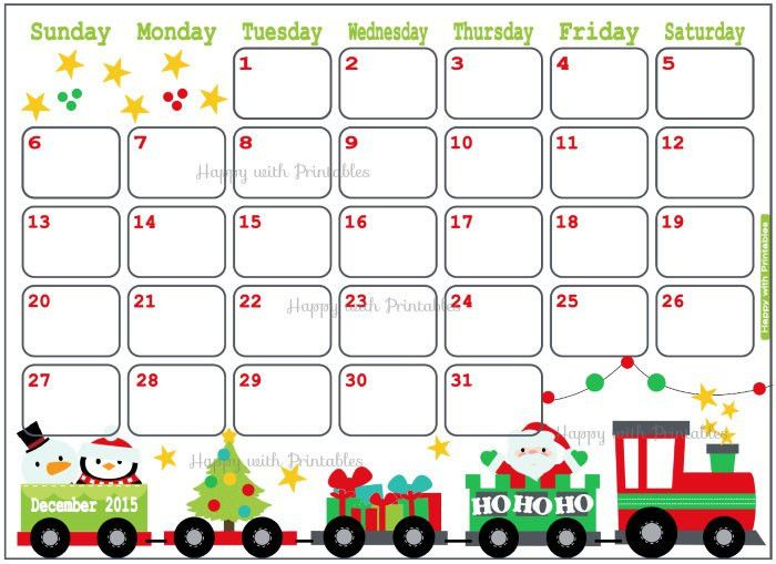 Christmas Calendar December 2016 In Word | Blank Calendar Design 2017