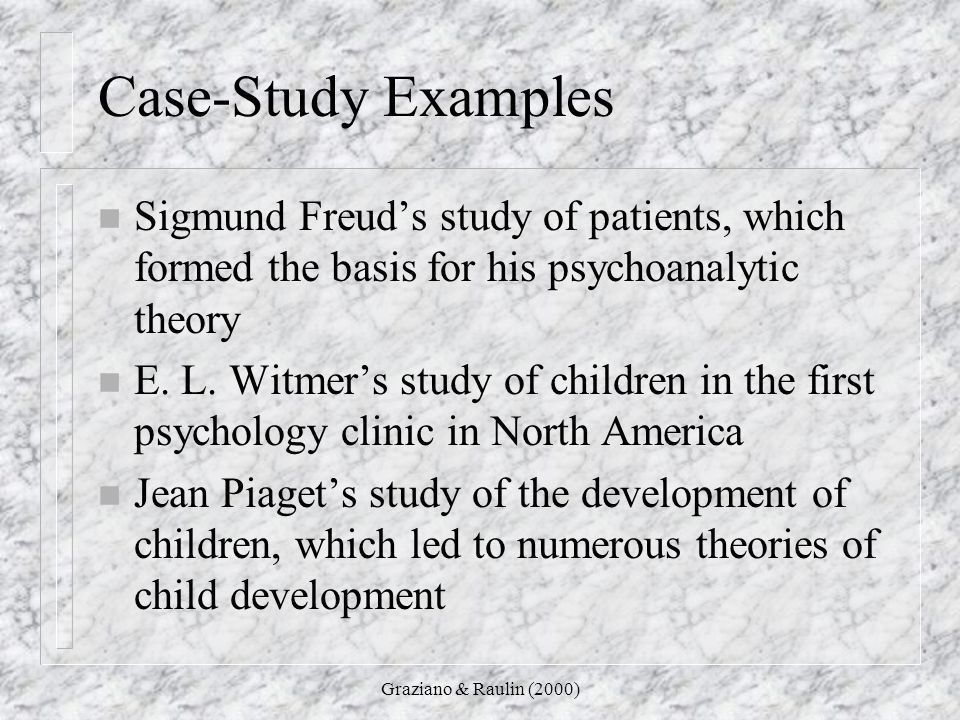 psychology case study examples