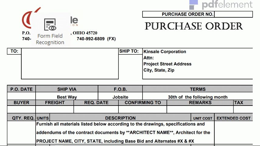 Purchase Order Template: Free Download, Edit, Fill, Create and Print