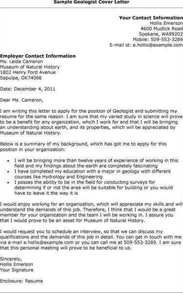 Geologist resume resume