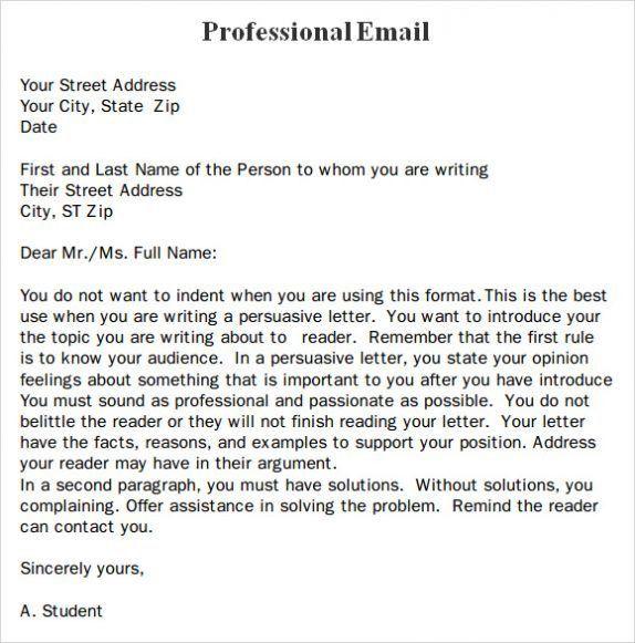 Business Email Template. Business Email Template Professional ...