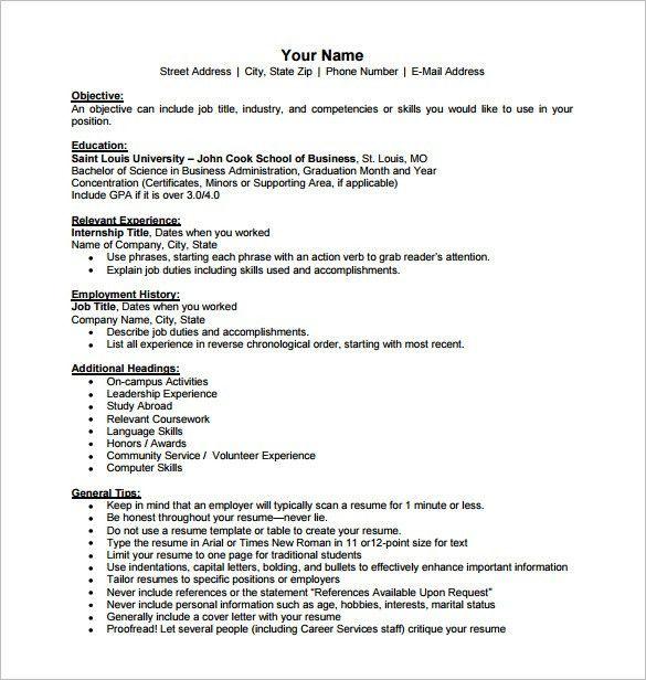 Formats Of A Resume. Standard Format Of Resume Format Standard ...